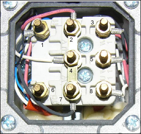 Motor an 230V Anschliessen.