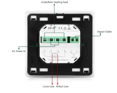 Ersetzen Bodenheizung Thermostat Analog auf Digital