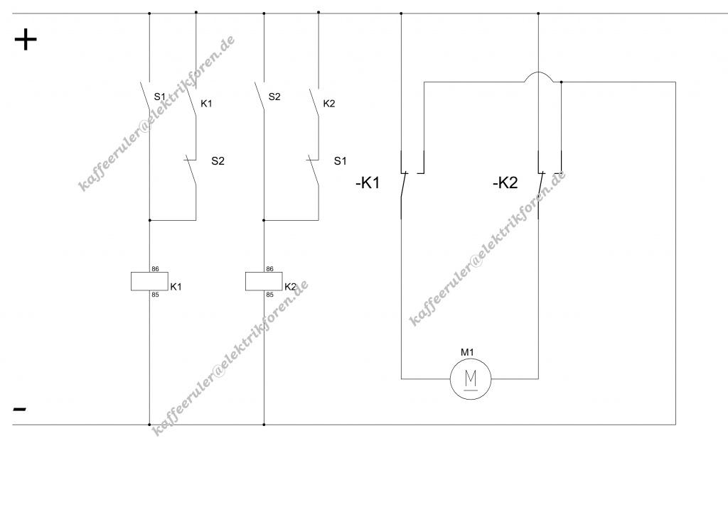 Motorsteuerung mit 2 endschaltern