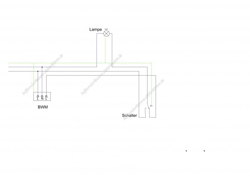 Hervorragend Schalter mit Lampe und Bewegungsmelder anschließen ZE79
