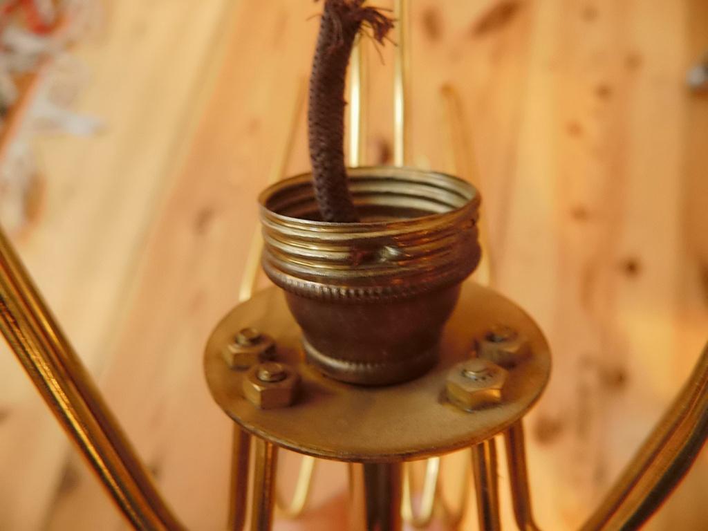 Ratlos: Alte Wandlampe neu verkabeln (50er Jahre)