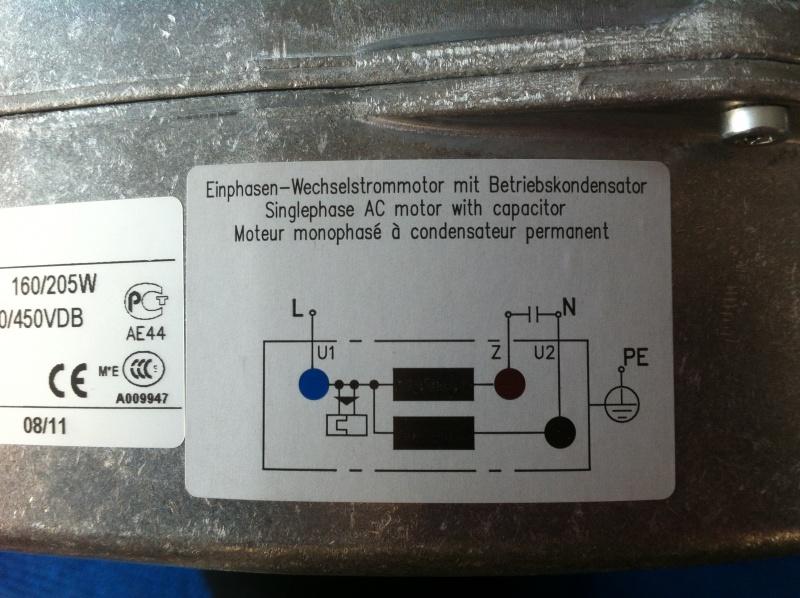 Fantastisch Anschlussplan Eines Einphasigen Motors Mit Kondensator ...