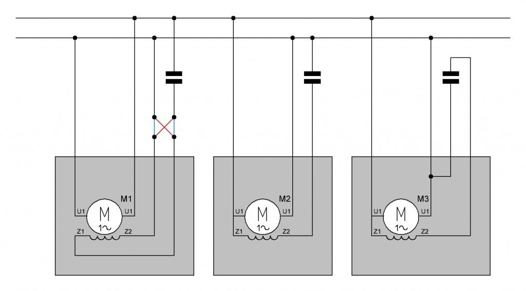 Wechselstrommotor Drehrichung