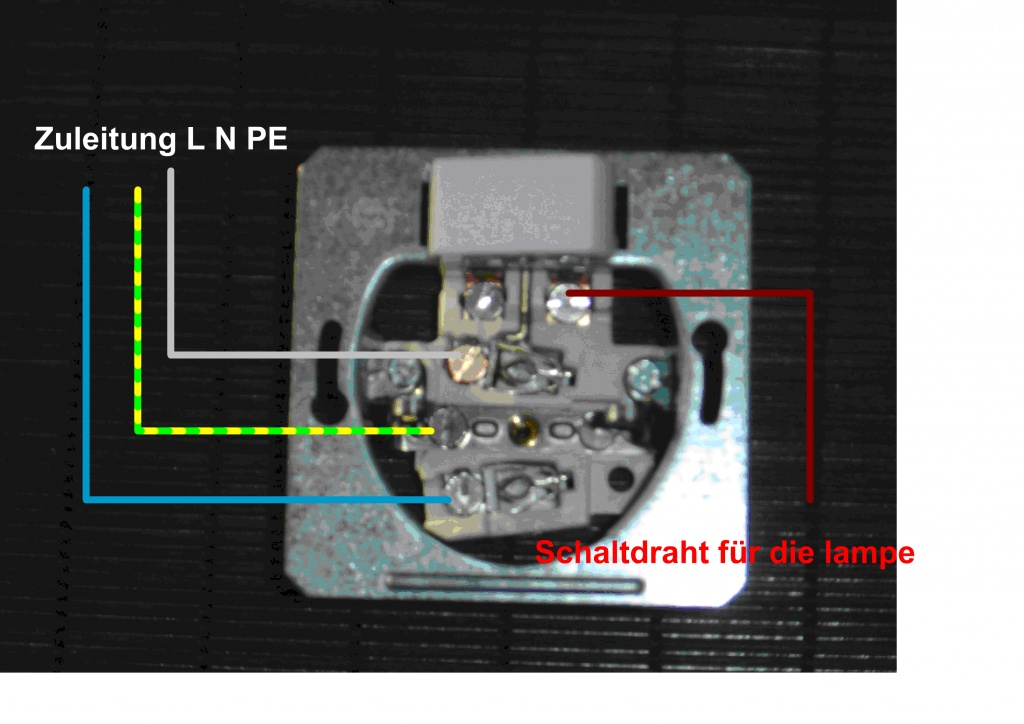 Ausgezeichnet Verdrahtung Schalter Und Steckdosen Bilder ...