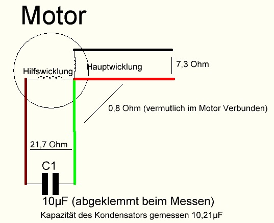Großartig Einphasenmotor Kondensator Start Kondensator Schaltplan ...