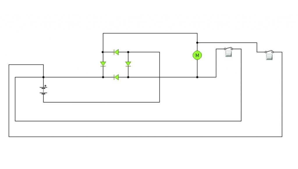 E-Motor in beide Richtungen drehen mit einer Stromquelle