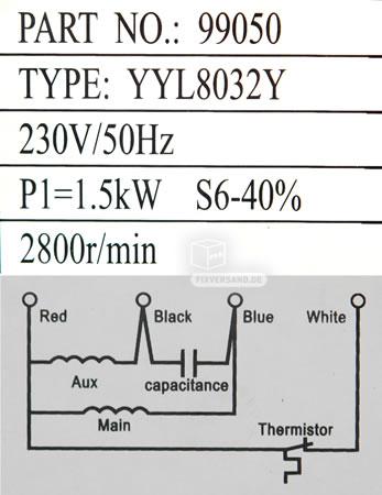 230 V / 50 Hz Motor anschließen - Drehrichtung wechseln