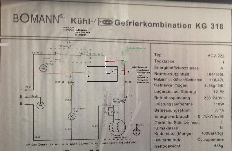 Siemens Kühlschrank Thermostat : Digital thermostat in kühlschrank einbauen