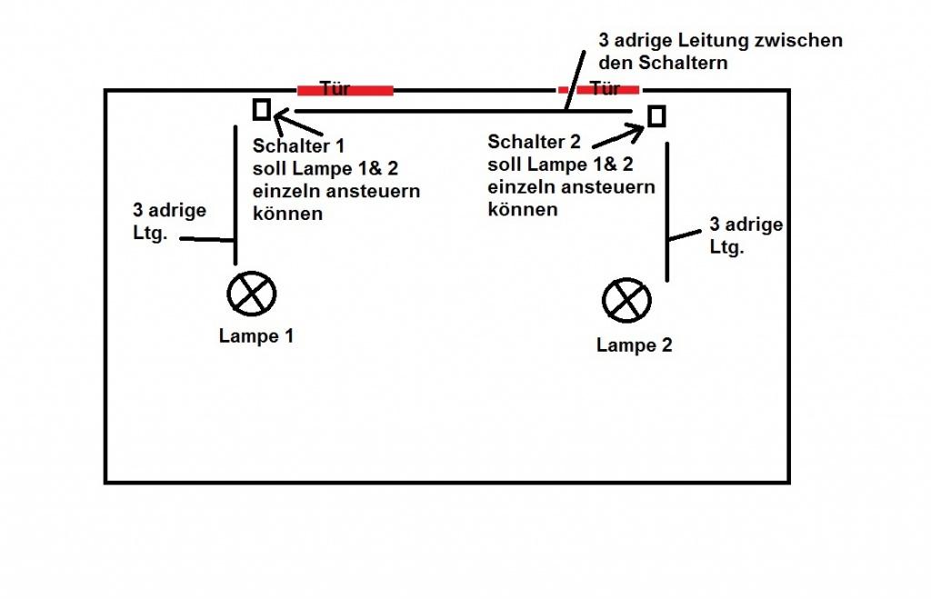Groß Kabel 2 Leuchtet Auf 1 Schalter Ideen - Elektrische Schaltplan ...