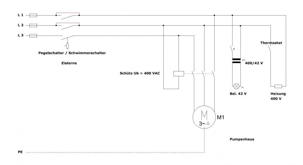 Tauchpumpe 400 V Schaltung