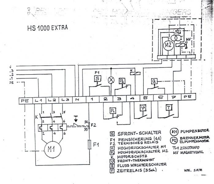 Schaltplan Hochdruckreiniger (beide Hochdruckschalter)