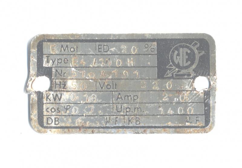 Alter E-Motor 220 volt anschluss + Anlaufkondensator?