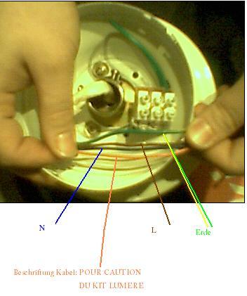 Deckenventilator wozu das orangene Kabel?!