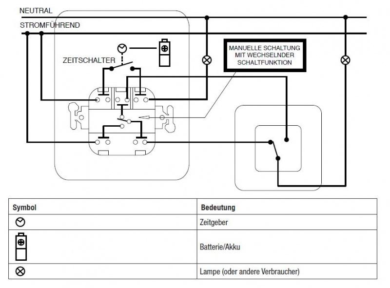 UP-Schalter (Lichtschalter) durch UP Zeitschaltuhr ersetzen   Seite 2